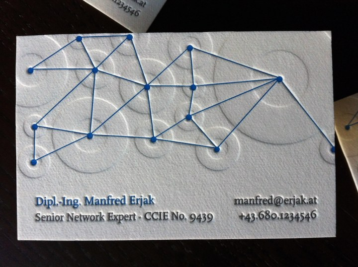 Networking Letterpress Business Card