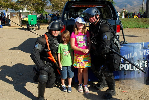 and then they posed with the swat guys