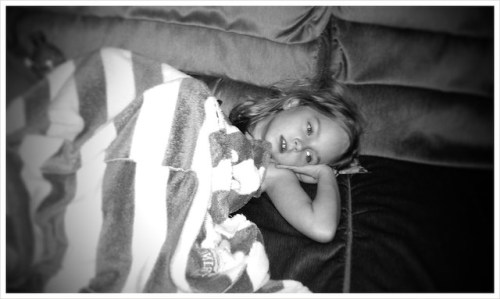 She doesn't feel funny but she sure is laying funny #marchphotoaday #SpringBreak