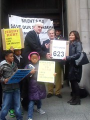 DCMS representative recieves our petition