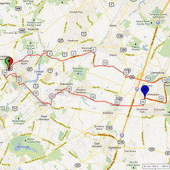08. Bike Route Map. Princeton NJ