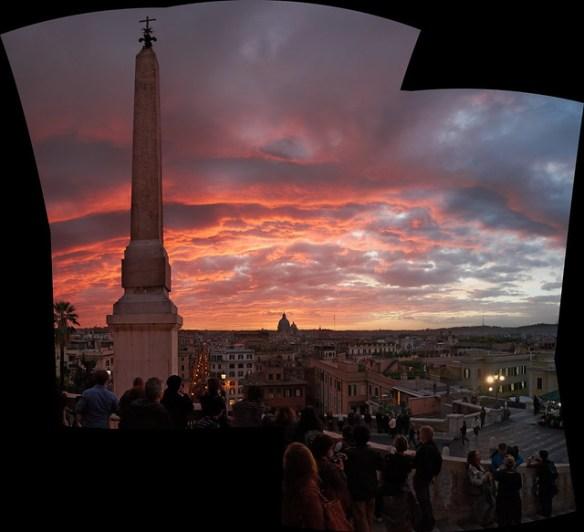 View of Rome from the Santa Trinitá dei Monti