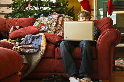 """December 28 Will and laptop • <a style=""""font-size:0.8em;"""" href=""""http://www.flickr.com/photos/7983687@N06/6592191439/"""" target=""""_blank"""">View on Flickr</a>"""