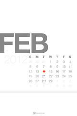 February 2012 Lock Screen Calendar Wallpaper W...
