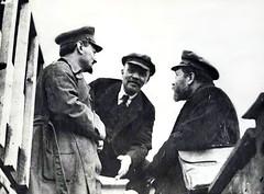 León Trotsky, Vladimir Lenin y Lev Kámenev (Mo...