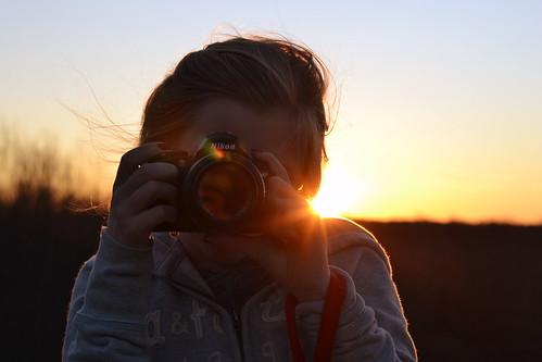 Through the Lens...(245/365) (*amanda lynn) light sunset motion hair nikon wind picture d40 d3100