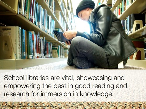 School libraries are vital by heyjudegallery, on Flickr