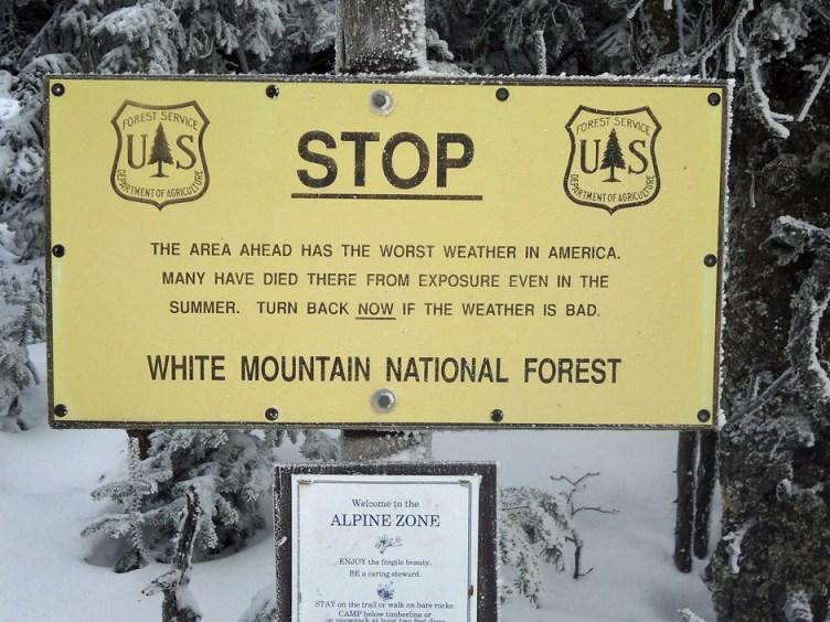 Mt. Adams U.S. Forest Service Sign