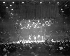 Championship fight between Cassius Clay and So...