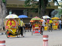 Colourful trishaws