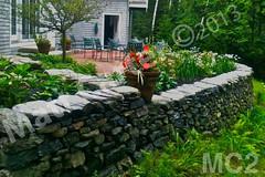 WM Matt Carter 2, Retaining Wall, dry laid stone construction, copyright 2014