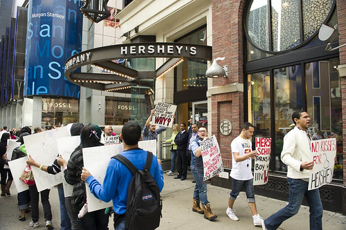 AIDS Healthcare Foundation Protest Of Hershey