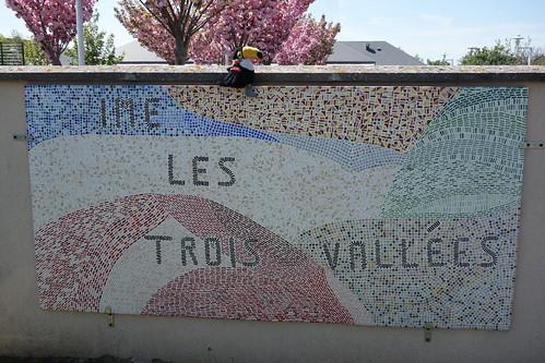 Pelico a également fait un saut à l'IME les trois vallées, juste à côté. Cet institut s'occupe d'enfants en situation d'handicap.