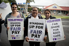 Caregivers on the picketline