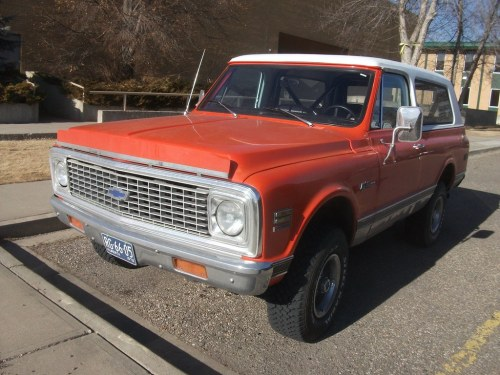 small resolution of 1972 chevrolet k10 blazer dave 7 tags orange chevrolet truck 70s suv 1972 blazer