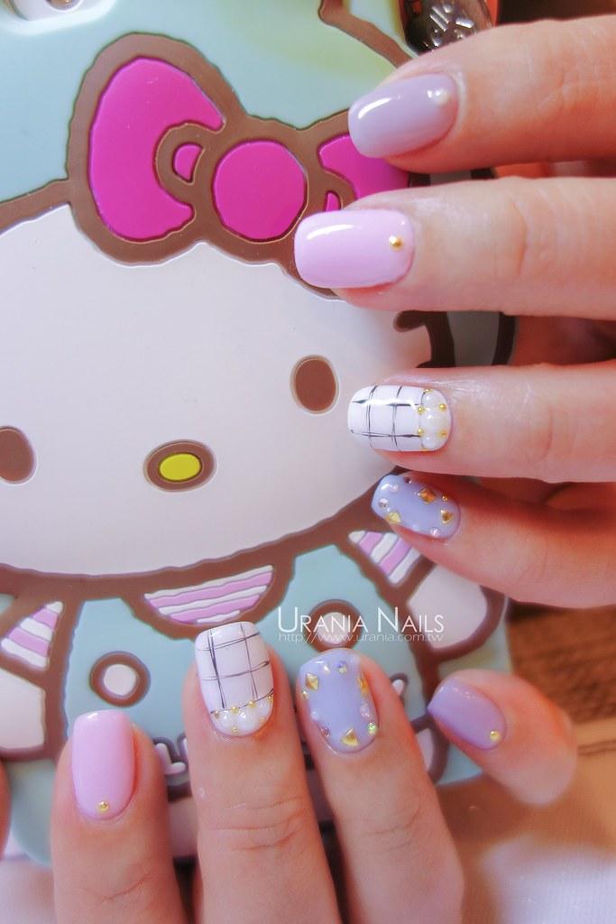 油漆手繪風凝膠指甲
