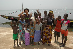 3 Finger Sustainability Salute in Mali, West A...