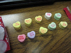 Awkward conversation hearts