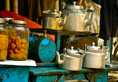 The road-side tea stall at Kolkata