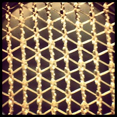 Warp knit thru a microscope