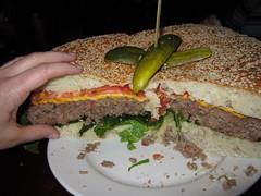 Mallie's 10 pound burger
