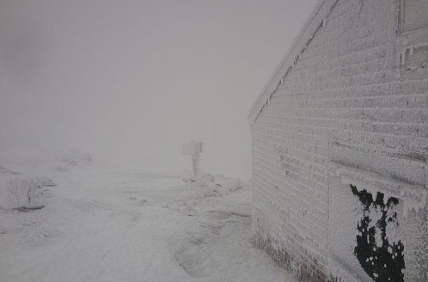 Lakes of the Clouds Hut Winter