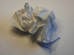 Screwed up Paper