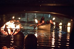 Passage of Long Boats Through Fires - Gaspee Day - Photo by Michael Ippolito