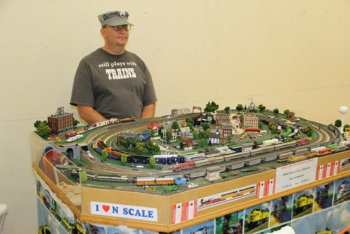 N scale model trains