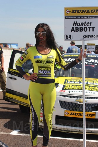 Hunter Abbott during the BTCC Weekend at Thruxton, May 2016