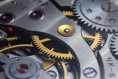 Molnija 3601 watch movement macro