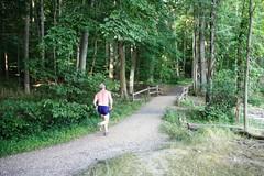 Runner on Blue Trail