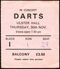 "19781130-Darts-Ulster Hall-Belfast-30 Nov 1978-ticket-DC Cardwell • <a style=""font-size:0.8em;"" href=""http://www.flickr.com/photos/87767114@N03/8157243401/"" target=""_blank"">View on Flickr</a>"