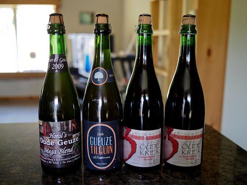 HORALs Oude Geuze Mega Blend (2009), Oude Gueuze Tilquin (2011) and Drie Fonteinen Schaerbeekse Kriek