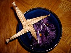 Brighid's Cross - Imbolc Altar