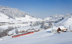 Appenzeller Bahnen im Winterwunderland