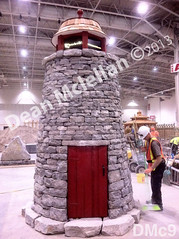 WM Dean Mclellan 9,  Stone light house structure, dry laid stone construction, copyright 2014