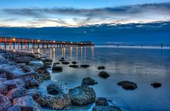 Safety Harbor Pier cloudy sunrise