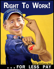 Mitch Daniels - Right to Work for Less