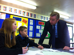 Michael Gove at Chantry High School