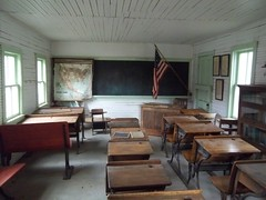 Inside Possum Holler School, El Reno, Oklahoma