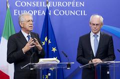 Italian Prime Minister, Mr. Mario Monti, and t...