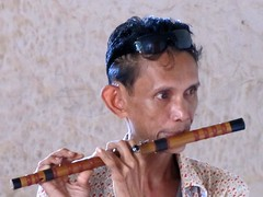 Musician in the old church