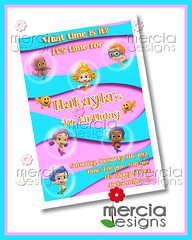 355 - Bubble Guppies Invitation