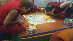 Thashi Lhunpo Monks Creating Sand Mandala
