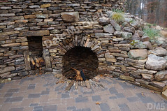 WM Dale Mitchell Landscape 5, Fire place, Flat work, Retaining wall, dry laid stone construction, copyright 2014