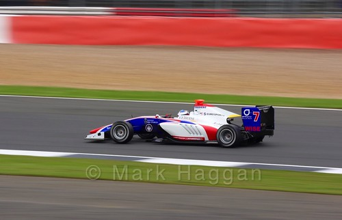 Giuliano Alesi in the Trident car in qualifying for GP3 at the 2016 British Grand Prix