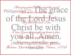 "Philippians 4:23 and ""Amazing Grace""..."