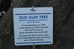 Sign on the Old Gum Tree