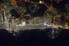 Dubai, United Arab Emirates at Night (NASA, In...
